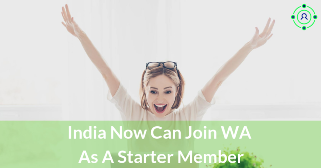 India now can join WA as a Starter Member