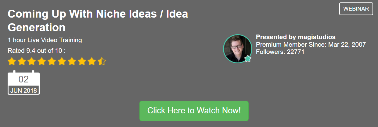Coming Up With Niche Ideas Idea Generation Wealthy Affiliate