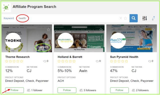 follow on affiliate programs