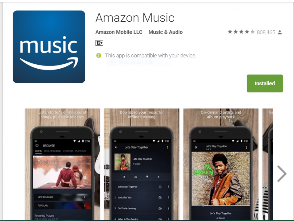 Amazon Prime Music Streaming – Ad Free and Unlimited Offline