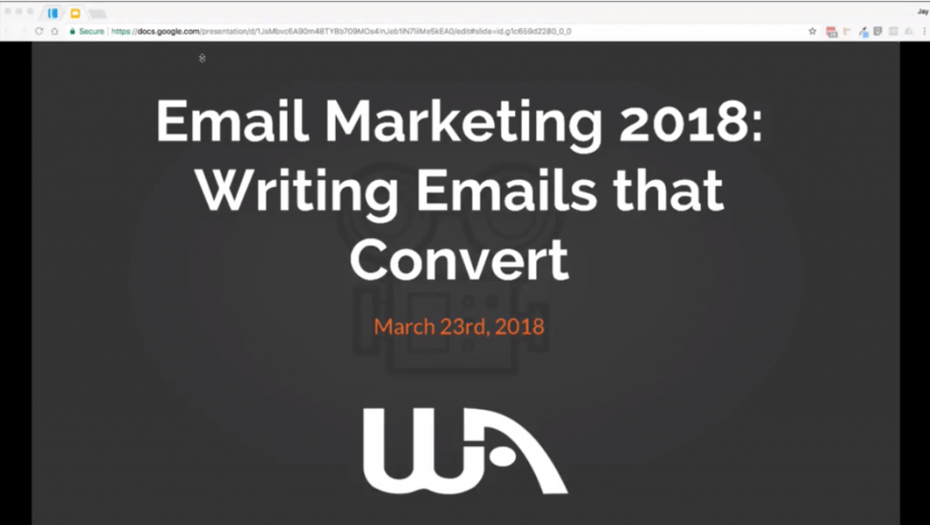 start email marketing immediately jay's wabinar