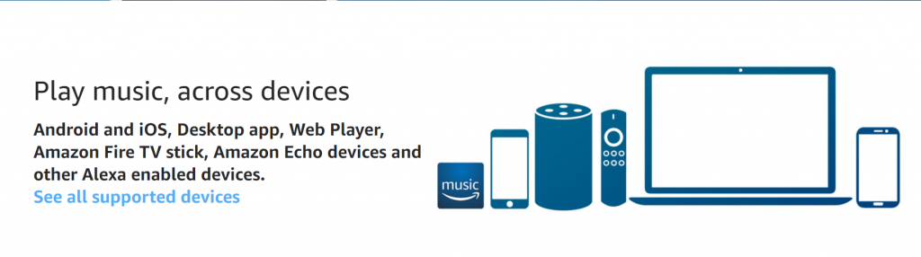 Amazon Prime Music Streaming – Ad Free and Unlimited Offline Downloads