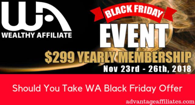 Should You Take WA Black Friday Offer