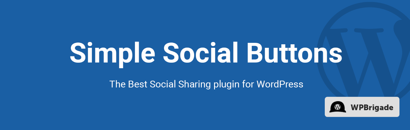 Simple Social Media Share Buttons – Social Sharing for Everyone – WordPress plugin WordPress org