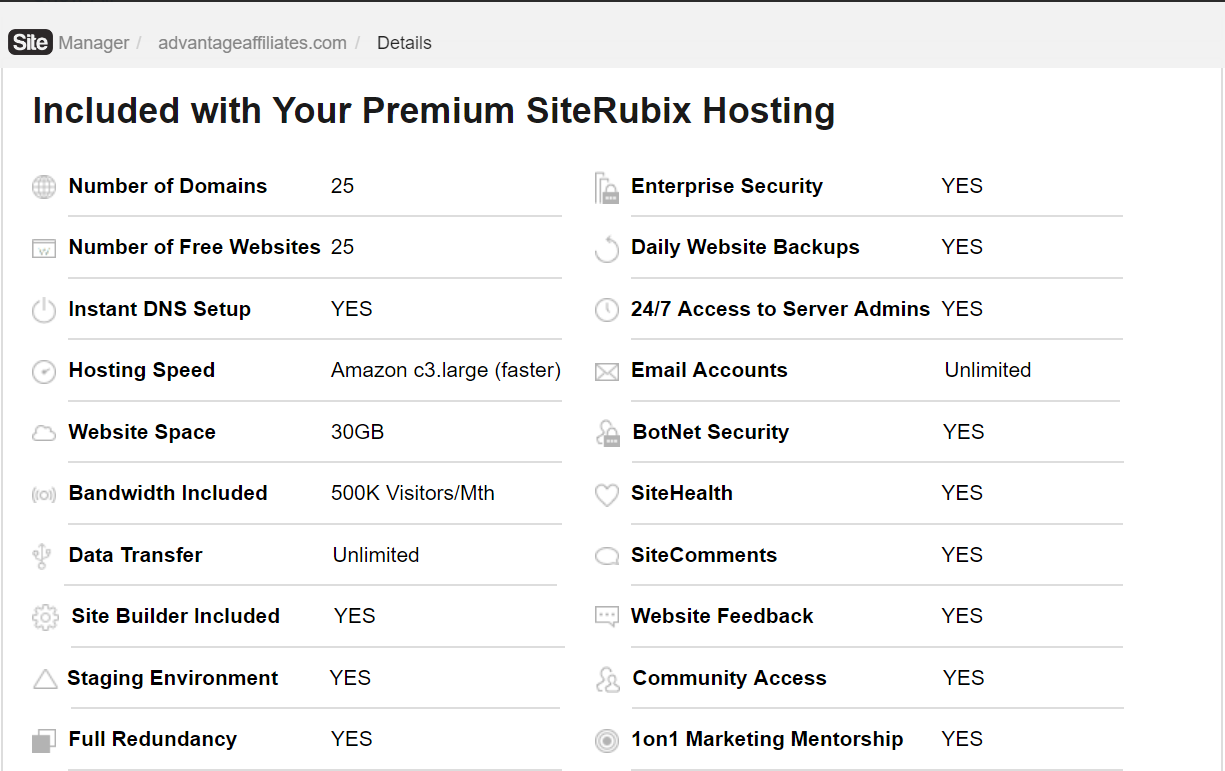 premium hosting at WA