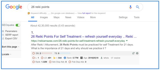 Google 1st page 1st rank