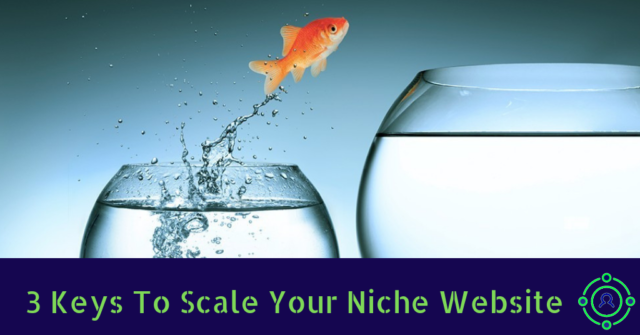3 keys to scale your niche website