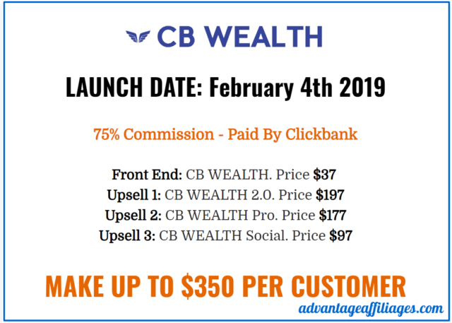 cb wealth scam -upsells