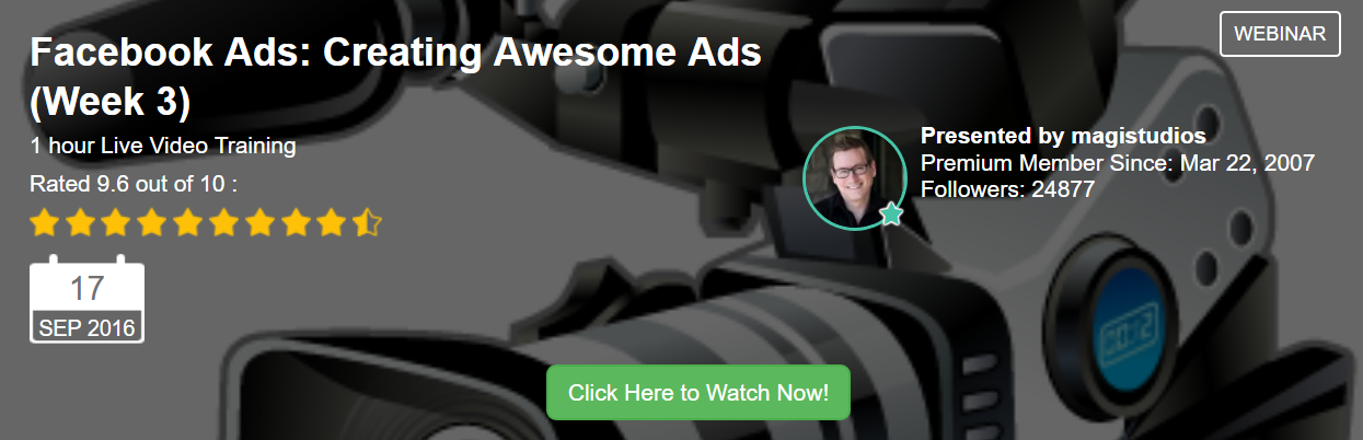 live wabinar by jay on creating awesome ads