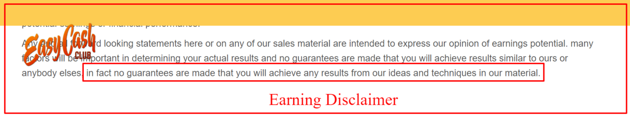 Earnings Disclaimer >> Easycashclub Earnings Disclaimer Advantage Affiliates