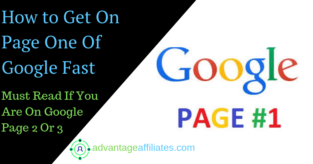 how to get on page one of Google Page 1