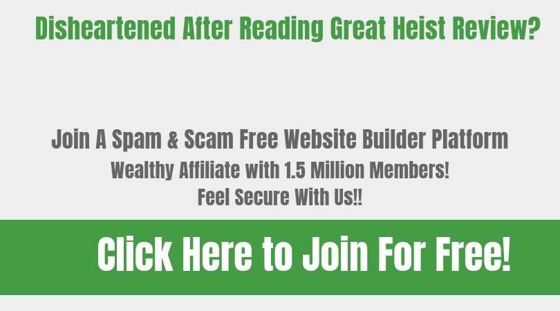 The Great heist Footer Banner