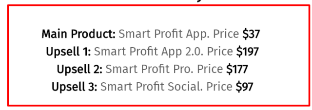 smart profit app upsells
