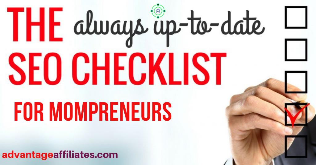 checklist for mompreneurs