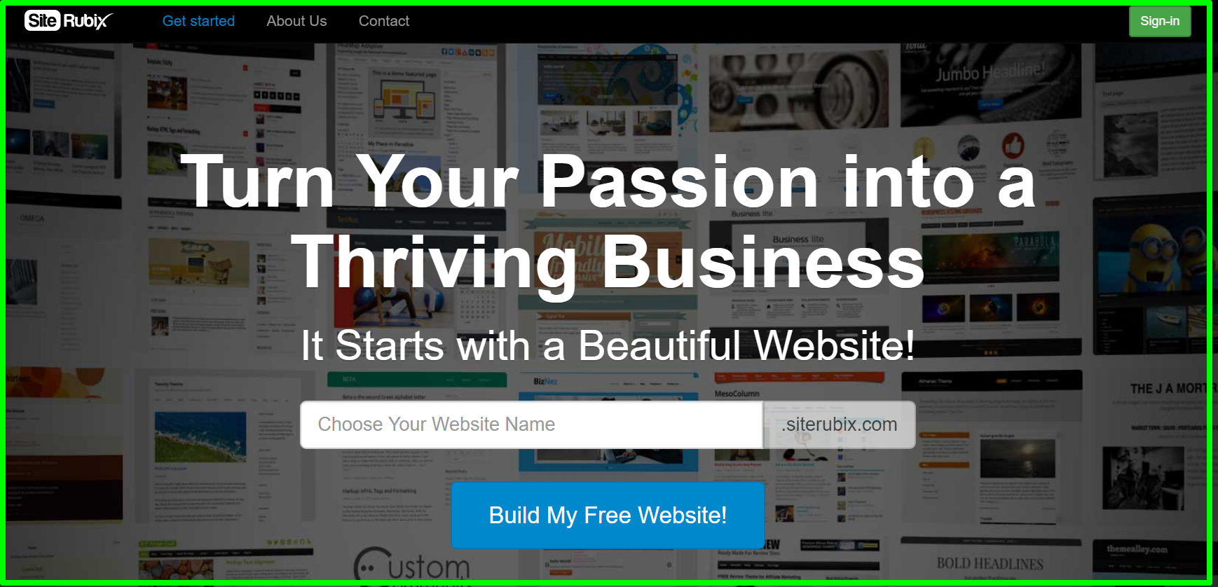 SiteRubix - Build Stunning Free Websites