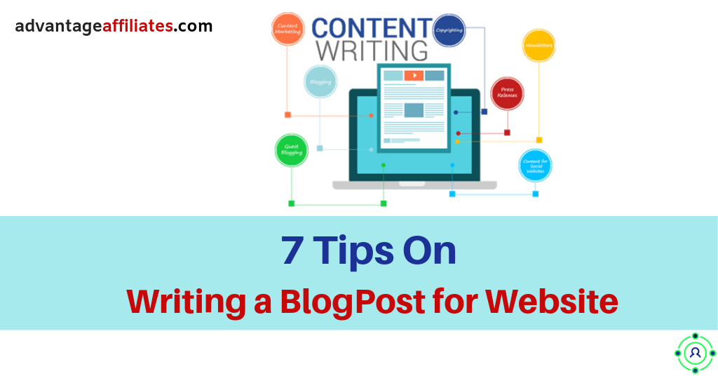 feature image of 7 tips on writing a blog post for your website