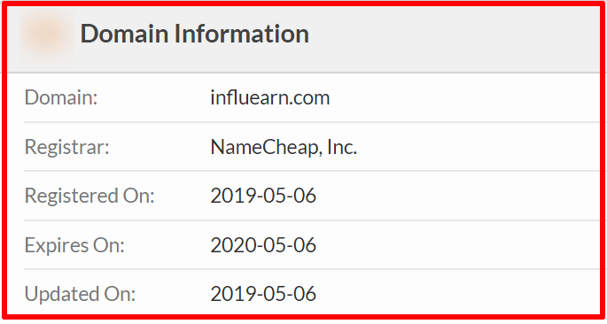 whois of influearn