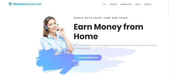 homepage of weeklyhourjob