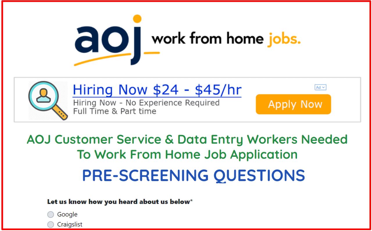 Aoj work from home jobs