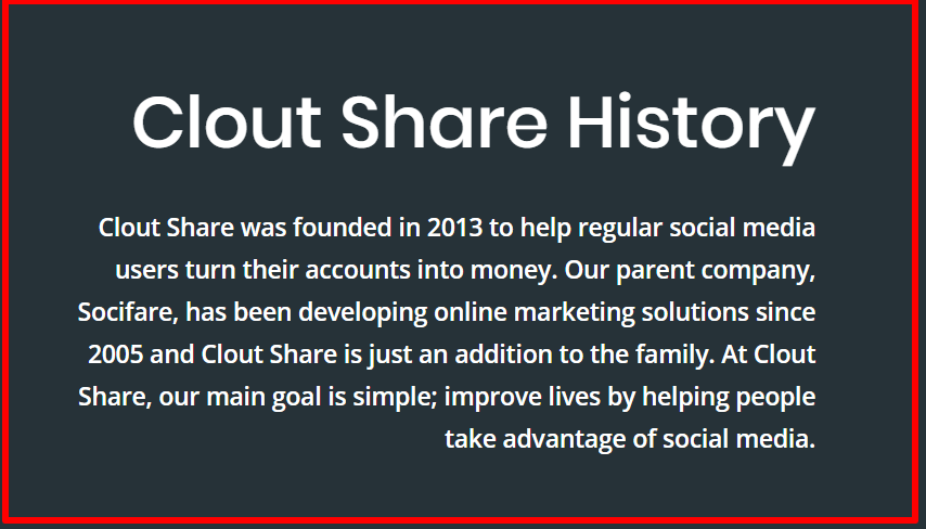 about clout share