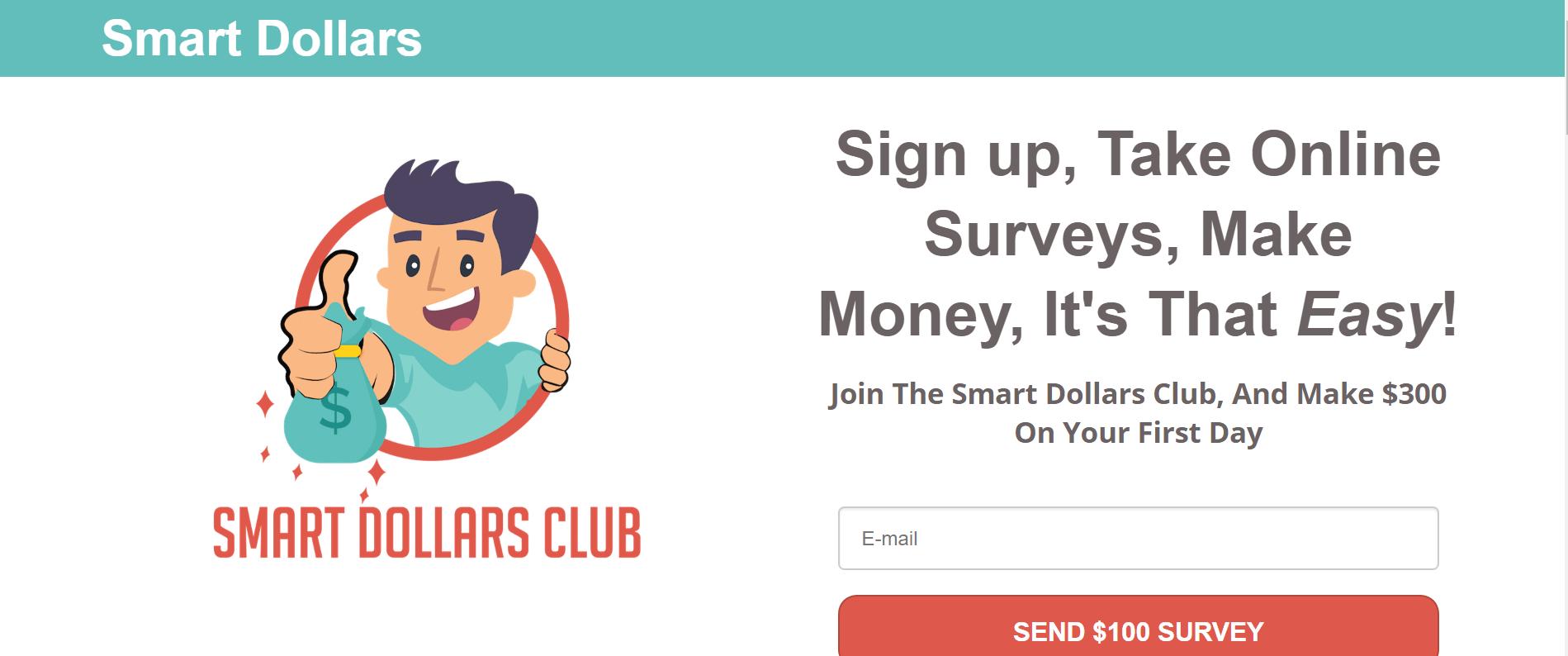 homepage of smart dollar club