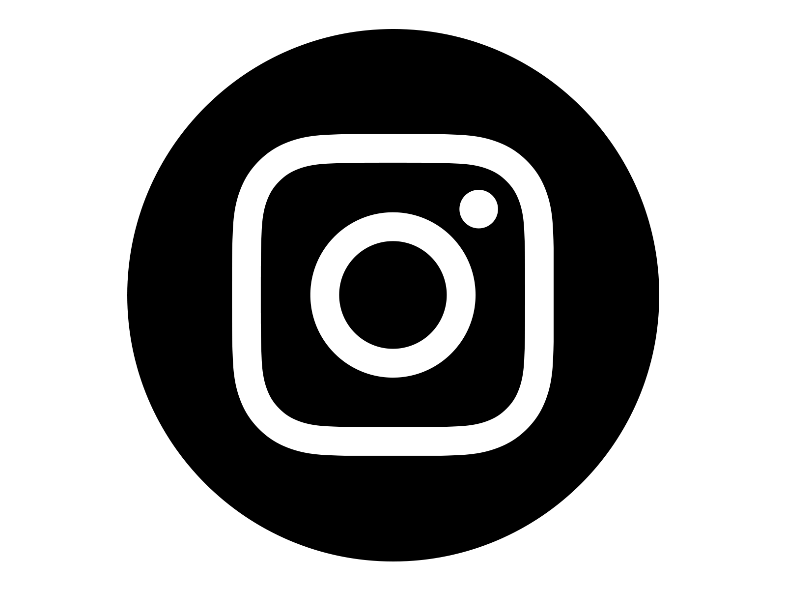 instagram logo bw