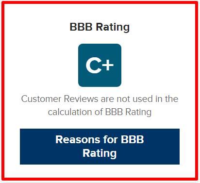 poor rating on BBB