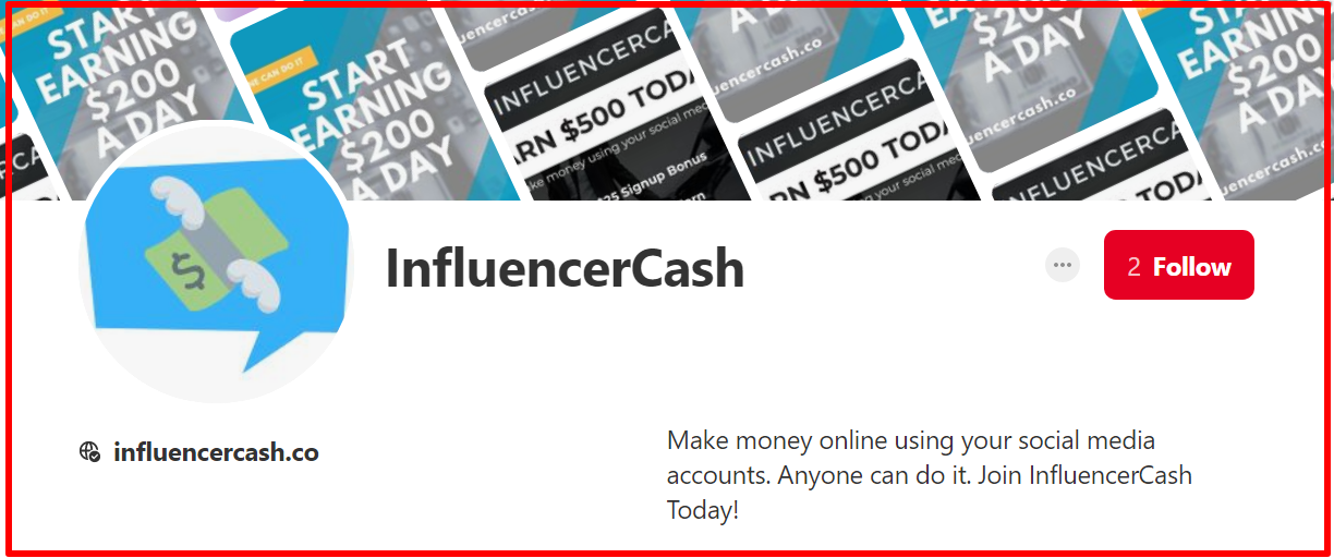 pinterest proof of influencercash