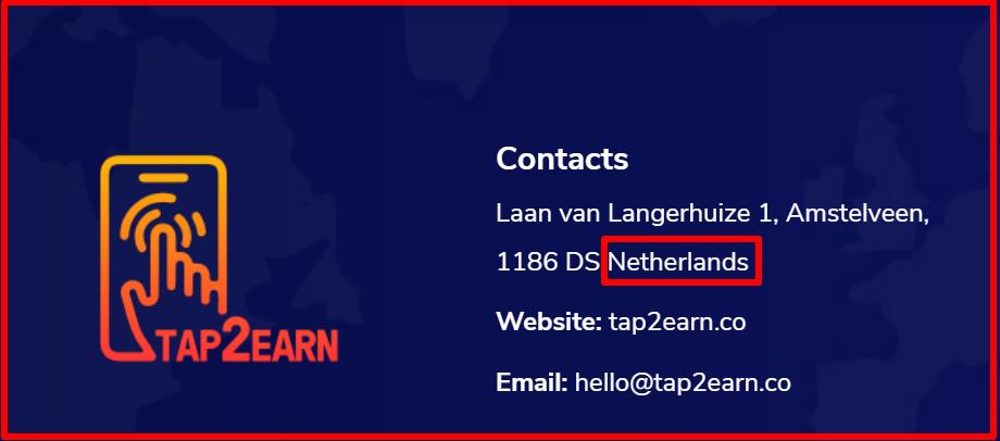 location of tap2earn