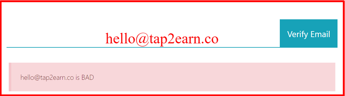 fake email address from tap2earn