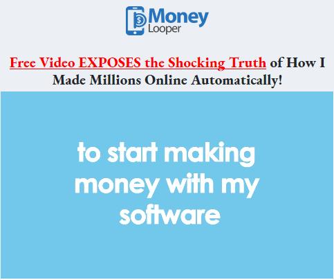 Homepage of money looper