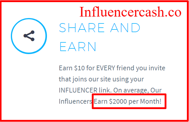 over hyped income claims by influencer cash
