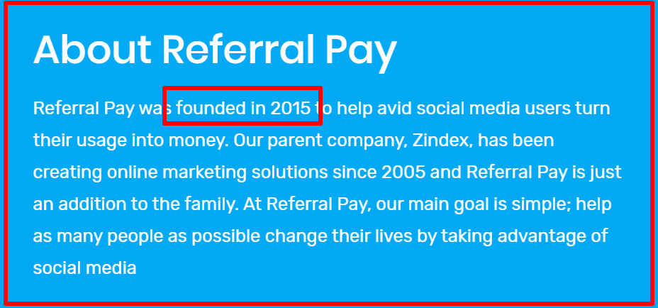 about us referral pay