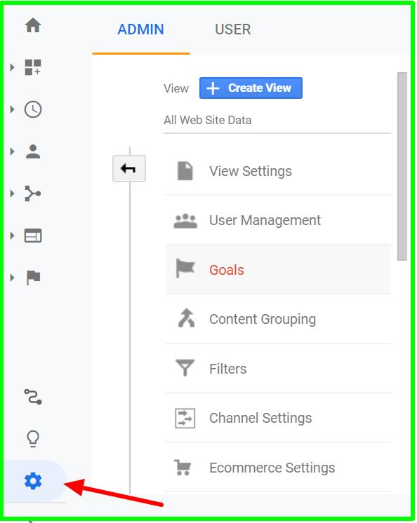 goal creation in google analytics