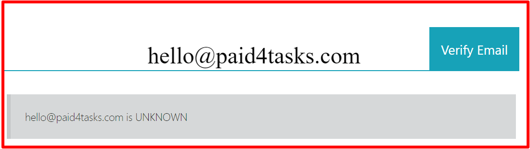 fake email address by paid 4 tasks