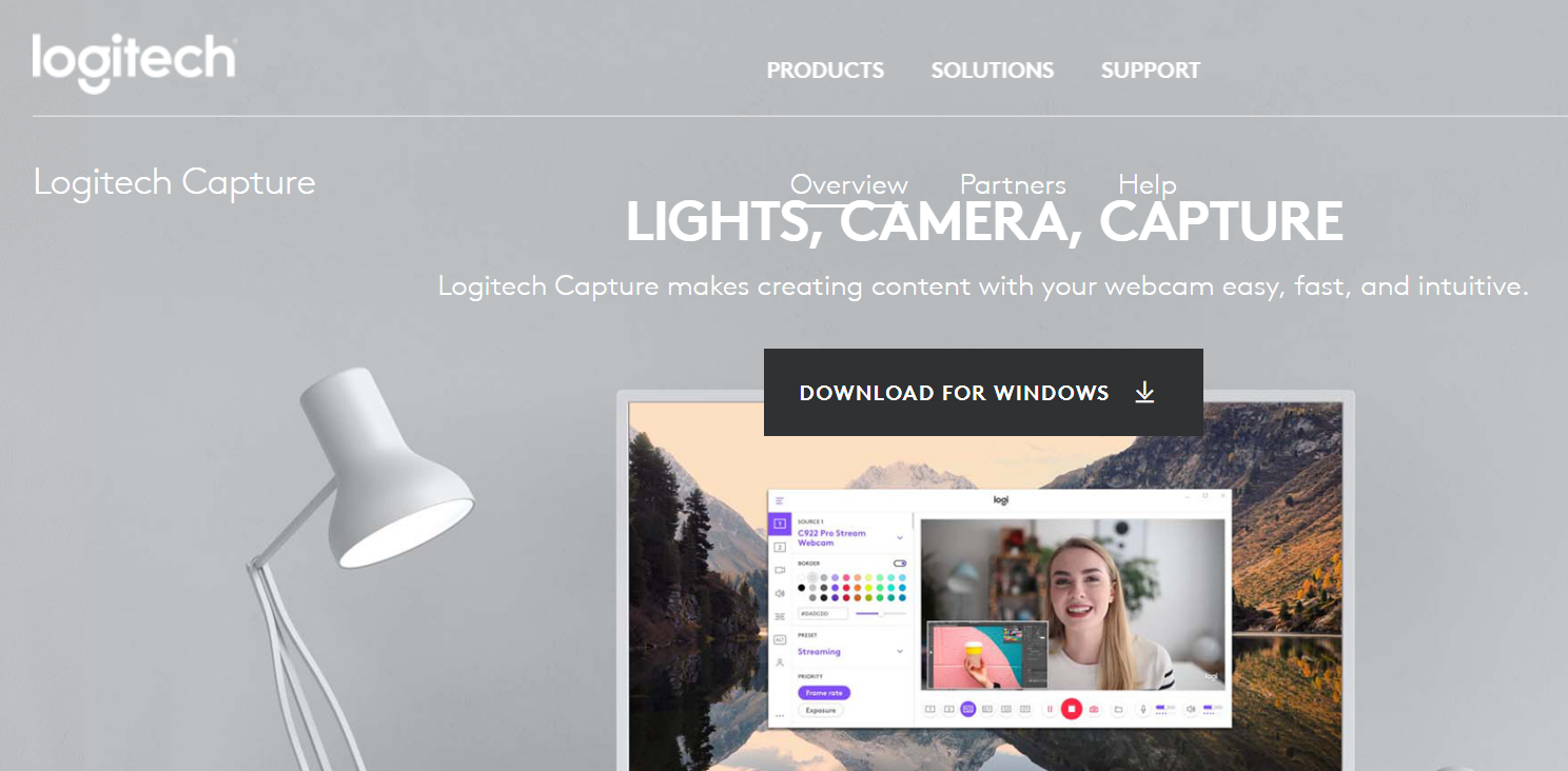 logitech capture homepage