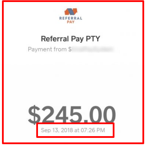 fake payment proofs by referral pay