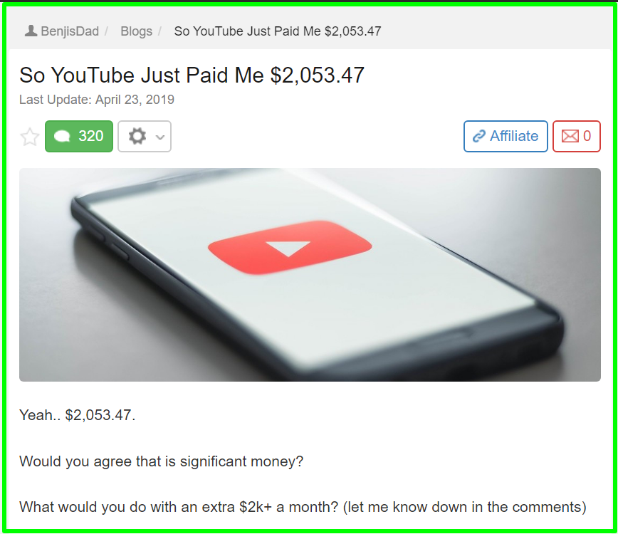 benjisdad youtube success story