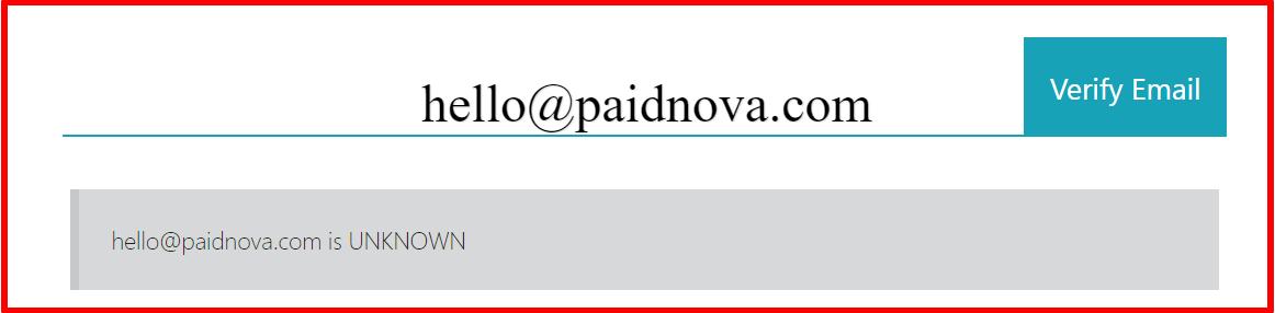 email verification of paid nova