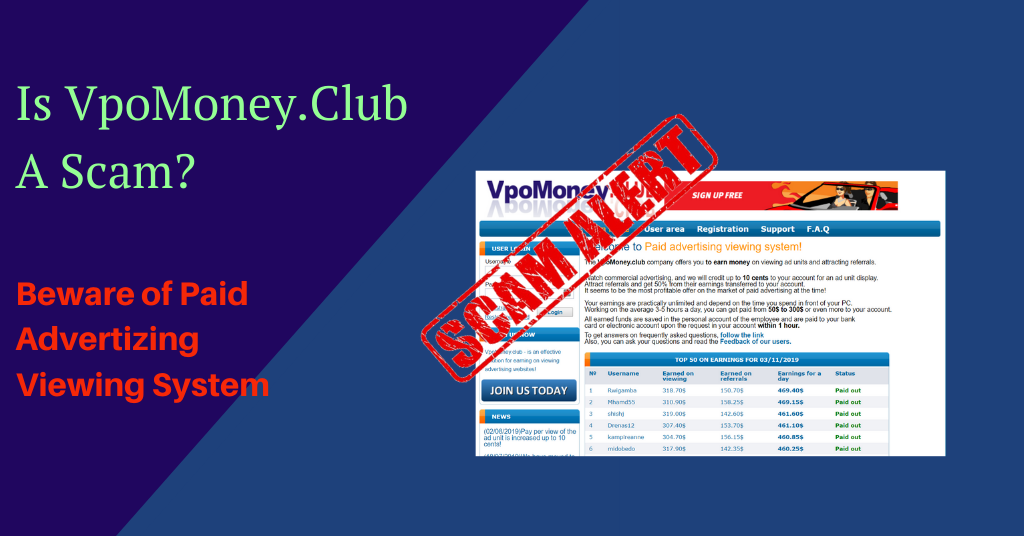 feature image of vpomoney.club
