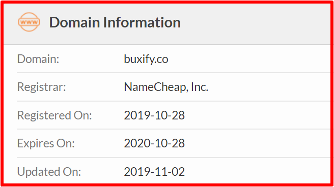 whois of buxify