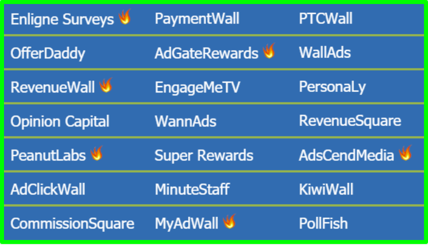 offerwalls on gptbee