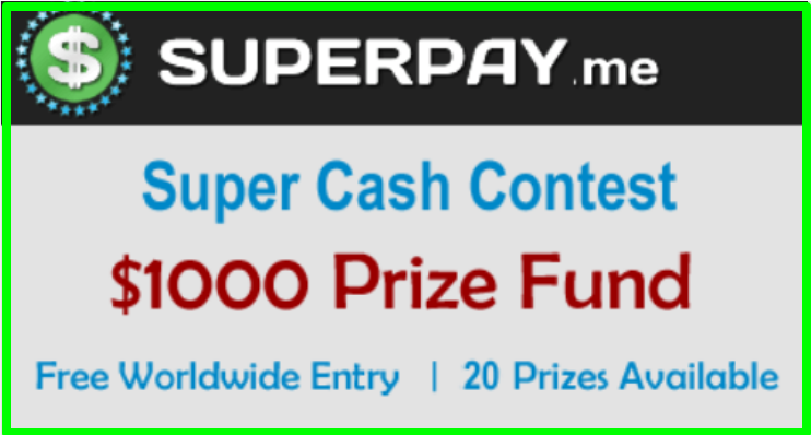 cash contest on superpay.me