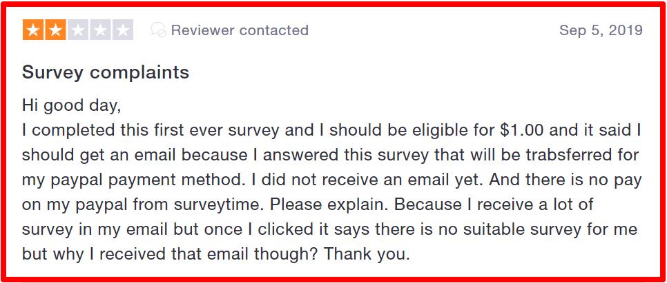 complaintns against surveytime.io