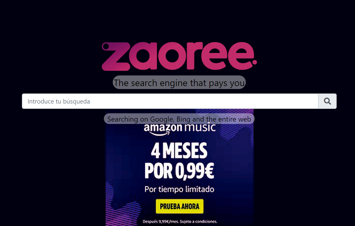 zaoree search bar