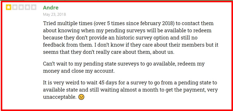 complaints against iSurveyWorld