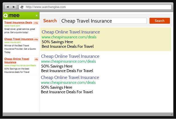 qmee sidebar with ads