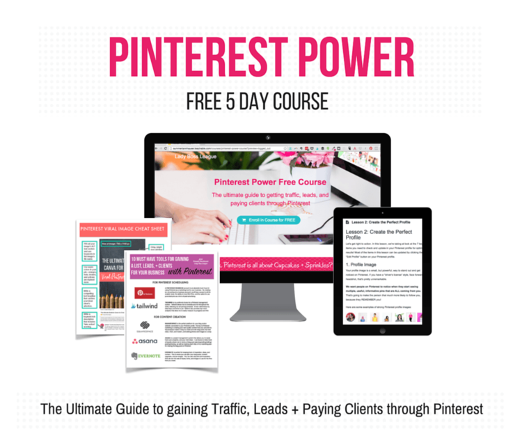 pinterest power free 5 day course