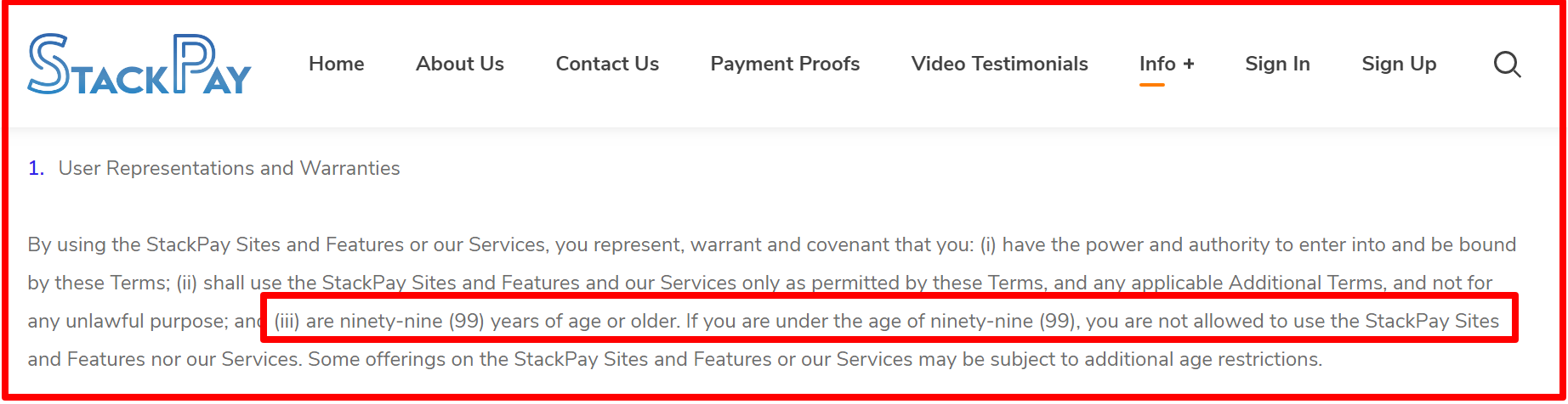terms and conditions of stackpay