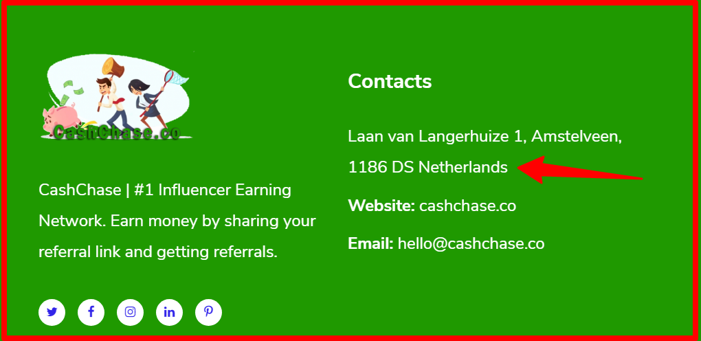 contact info of cashchase